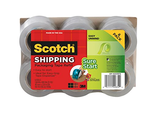 6 pack scotch packaging tape - 1