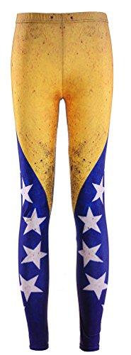 Sister Amy Women's High Waist Nation Flag Printed Ankle Elastic Tights Legging Venezuela US 0-12