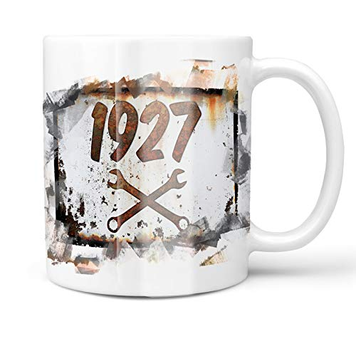 1927 Car - Neonblond 11oz Coffee Mug Rusty old look car 1927 with your Custom Name