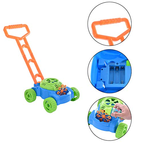 (LLJEkieee Toys Electric Bubble Lawn Mower Children's Trolleys Bubble Machines Outdoor Toy Best for Indoor or Outdoor Play)