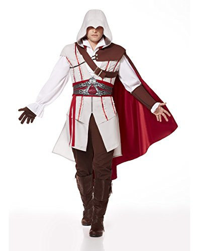 Spirit Halloween Adult Ezio Costume - Assassin's Creed, L 44-46, Brown, L 44-46, Brown