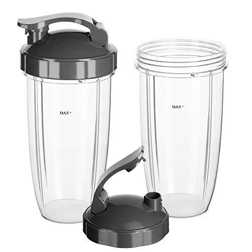 Vaso de 900 ml con tapa Nutribullet 600W and 900W pack 2