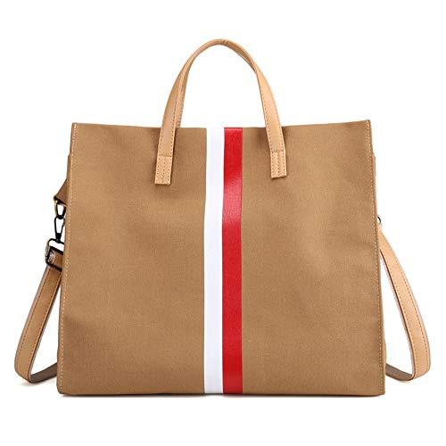à de sac bandoulière sac en à sac main sac coréenne Messenger LANDONA nouveau sacs Bag capacité Brown femmes grand toile simple grand Xtwq6TI