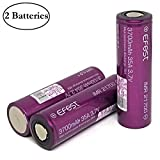 M&A BD Electronics Purple Series IMR21700 3700mAh 30A 3.7V Rechargeable High Drain Flat Top Li-ion Battery (2-Pack) Replacement for 21700 Batteries