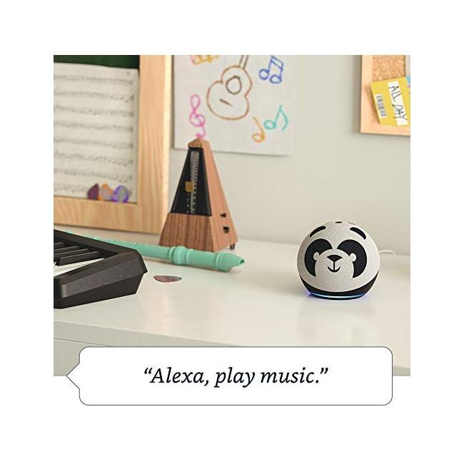 Nuevo Echo Dot (4ta Generación) Edición Infantil | Diseñado para niños, con controles parentales | Panda