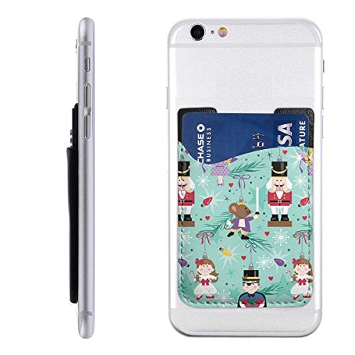Phone Card Holder PU Leather Christmas Xmas Nutcracker Ornaments with Sticky 3M Adhesive and Cute Printed for Girls Compatible for Most Smartphone Samsung and Door Car Refrigerator 3 Pack Nutcracker Ornaments