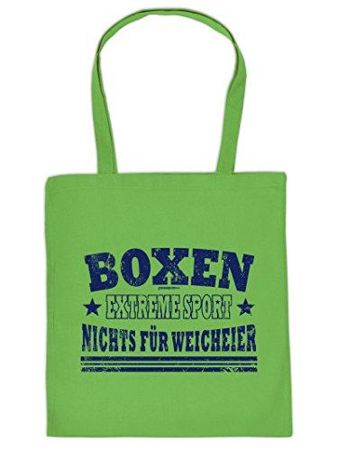 BOXEN -Tote Bag Henkeltasche Beutel mit Aufdruck. Tragetasche, Must-have, Stofftasche. Geschenkidee