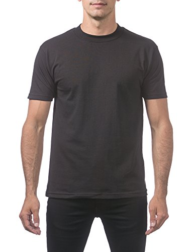 Pro Club Men's Comfort Cotton Short Sleeve T-Shirt, Small, Black -