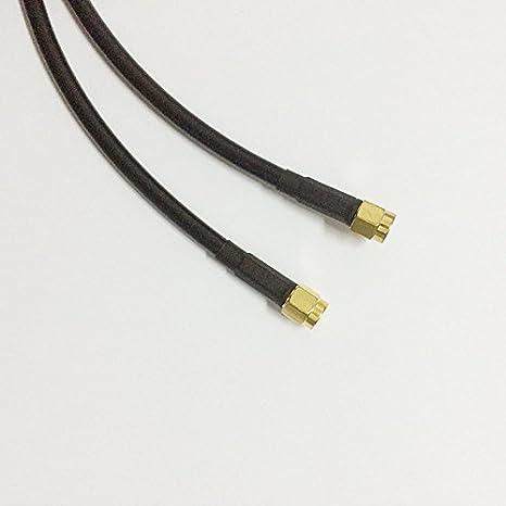 allishop RP SMA macho a RP SMA hembra tuerca Bulkhead Crimp Cable Coaxial Jumper Pigtail 50 cm RG58 cable de extensión: Amazon.es: Electrónica