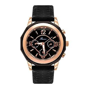 LKTGBRCVZJU Relojes Marea Moda Gran dial multifunción Reloj de Moda de Seis Pines Correa de Personalidad