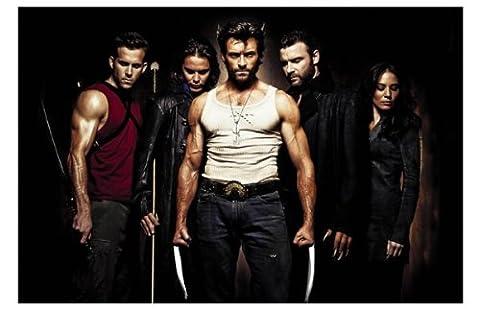 X-Men Origins: Wolverine Movie Art Print — Movie Memorabilia — 11x17 Poster, Vibrant Color, Features Hugh Jackman, Liev Schreiber, Danny Huston, Dominic Monaghan, Will.i.am, Ryan (Wolverine X Men Claw Silver)
