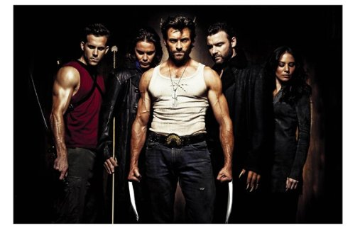 X-Men Origins: Wolverine Movie Art Print — Movie Memorabilia — 11x17 Poster, Vibrant Color, Features Hugh Jackman, Liev Schreiber, Danny Huston, Dominic Monaghan, Will.i.am, Ryan - Hugh Glasses Jackman