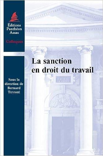 Lire un La sanction en droit du travail pdf