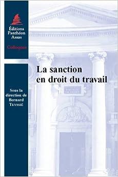 Book Sanction en droit du travail (la)