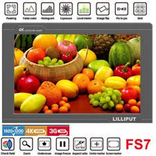 USA Official Seller VIVITEQ LILLIPUT FS7 7 inch Metal Full HD 1920x1200 4K HDMI 3G-SDI in Out On Camera Field Display Monitor by Lilliput