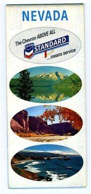 Chevron Standard Oil Company Map of Nevada 1967