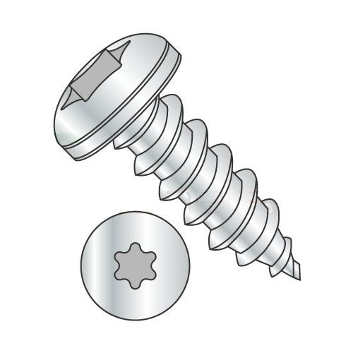 #10 x 2 Type A Self-Tapping Screws/Six-Lobe (Torx)/Pan Head/Steel/Zinc (Carton: 1,500 pcs) 41AkUTUMiqL
