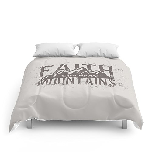 Society6 Faith Can Move Mountains Comforters King: 104'' x 88'' by Society6