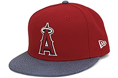 New Era Los Angeles Angels of Anaheim Rugged Leather Red Fitted Cap