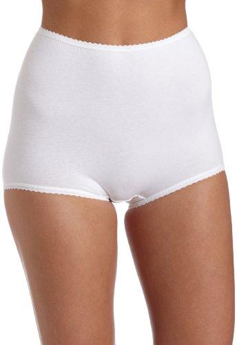 Bali Women's 3-pack Coolskimp Skamp Brief, White, Size 10 (Bali Cotton Panties)