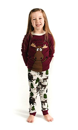 I Moose Have A Hug Red Kids Long Sleeve Pajama Sets by LazyOne | Fun Soft Animal Pajamas (8)