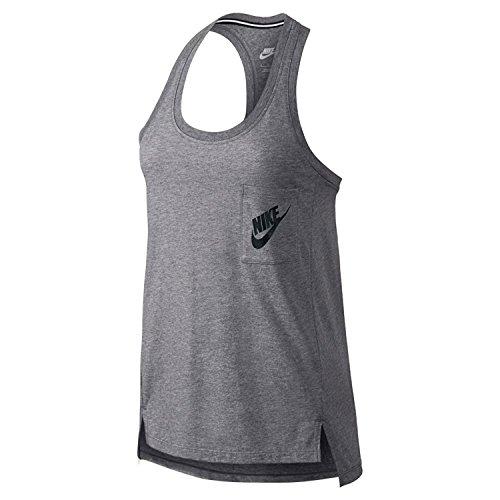 Nike Women's Signal Racerback Tank Top (XS, Grey)