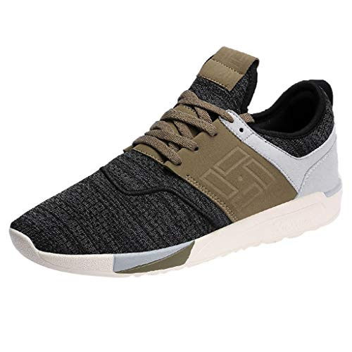 s Casual Running Shoes Lightweight Casual Slip On Walking Shoe Fitness Indoor and Outdoor Shoes Black ()