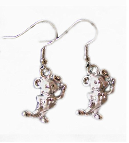 Pewter Mickey Mouse Charm Earrings ( Silver ()