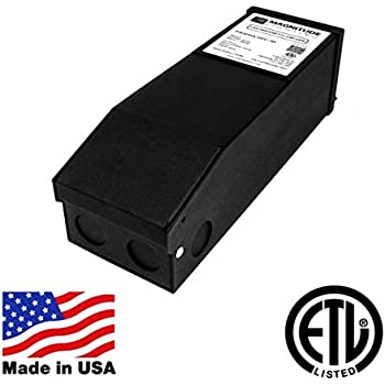 Magnitude LED Driver Dimmable Transformer, 100 Watt 110V AC-12V DC Transformer. Made in the USA. Compatible with Lutron and Leviton for Constant Voltage LED ...