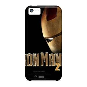 Iphone 5c Iron Man Print High Quality pc Gel Frame Case Cover