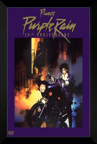 Purple Rain FRAMED 27x40 Movie Poster: Prince