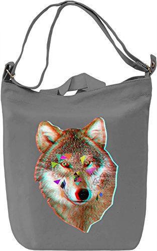 Geometric wolf Borsa Giornaliera Canvas Canvas Day Bag| 100% Premium Cotton Canvas| DTG Printing|