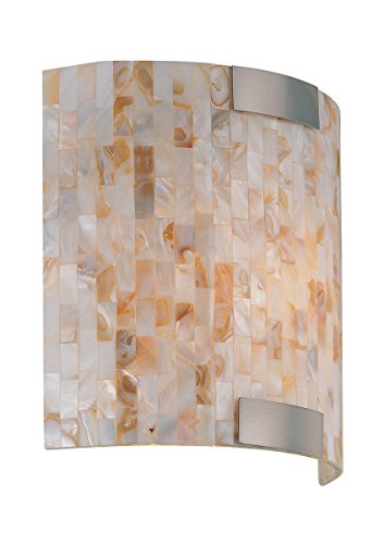 Lite Source LS-16381 Schale Wall Sconce Lite with Shell Shade, White