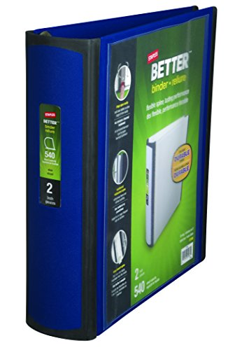 Staples Better Binder 2 Inch Blue product image
