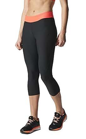 New Adidas Women's Ultimate Fit Three-Quarter Tights Black/Flash Red X-Small
