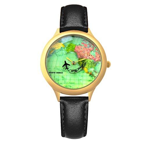 Airplane Watch Design Black - 1