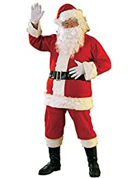 Rubies Costume Flannel Santa Suit, Red/White