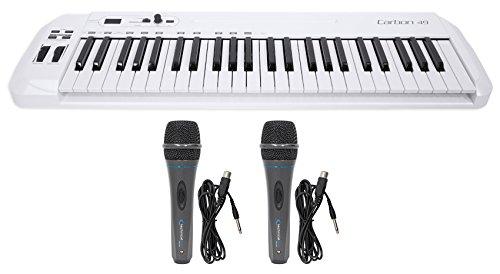 Samson Carbon 49 Key USB MIDI DJ Keyboard Controller+Software+(2) Microphones by Samson Technologies