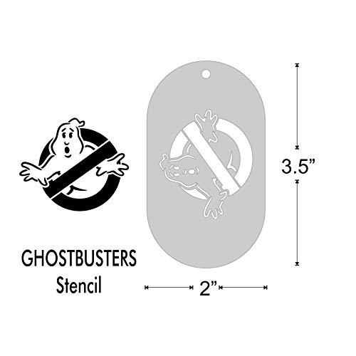 Stencil- Ghostbusters, 1.85x1.6 Inch Image on 3.5x2 Border, Size 1]()