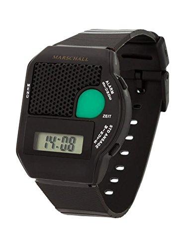 Reloj de pulsera que habla, colour negro gran oprime (Blindenuhr)