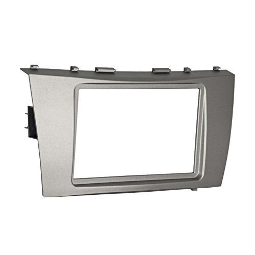 Metra 95-8218S Double DIN Dash Installation Kit for Select 2007-2011 Toyota Camry Vehicle (Silver Dash Kit)