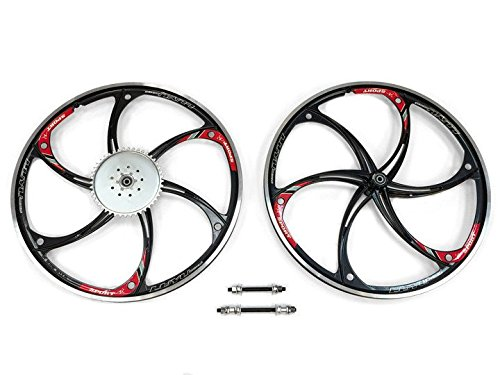 Aluminum Wheels with 44T Sprocket HY-22 (Black ) 80CC Gas Motorized Bicycle (Motorized Bicycle Wheel compare prices)