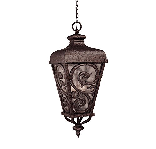 - Savoy House 5-7148-56 Outdoor Pendant with Pale Cream Seeded Shades, Brown Tortoise Shell with  Gold Finish