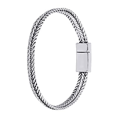 XIAOHA Men S Bracelet Link Chain Ancient Silver Bracelet Women Heavy Wide Mens Buddha Bangles Bicycle Chain Wristband Estimated Price £24.99 -