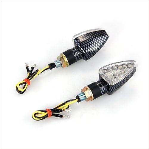 2 x Indicatori di Direzione Lampada LED 15 12V Giallo x Moto