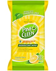 Pine O Cleen Antibacterial Disinfectant Surface Wipes Lemon & Lime, 45 wipes
