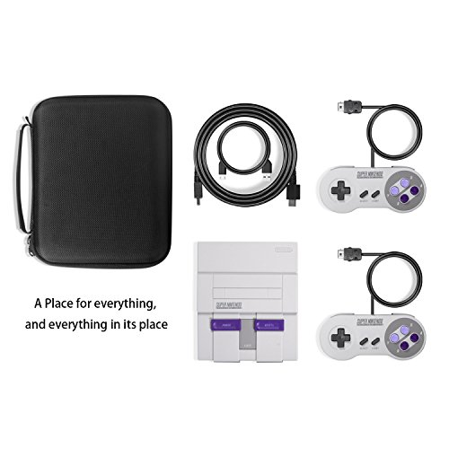 SNES Classic Case, Keten Deluxe Travel Carrying Case for SNES Classic Edition(2017), Fits for 2 Controllers and HDMI Cable, Perfect for Super NES Classic Mini Photo #2