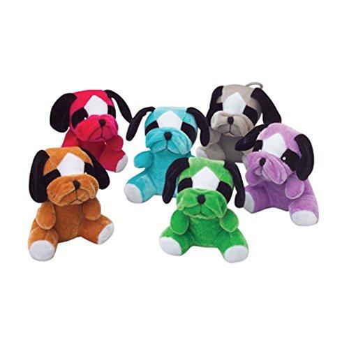 Assorted Color Sitting Bull Dog Plush Stuffed Animal (1)