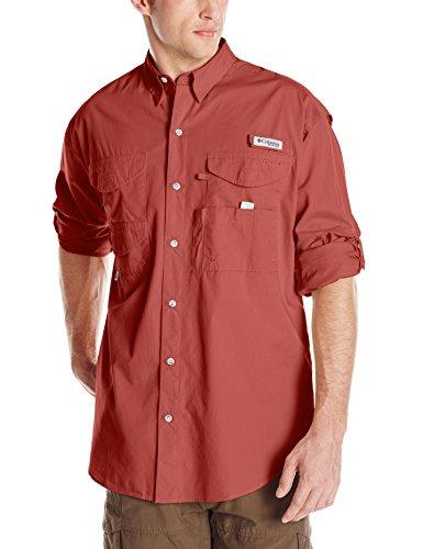 Columbia Sportswear Men's Bonehead Long Sleeve Shirt, Sunset Red, 2X Tall