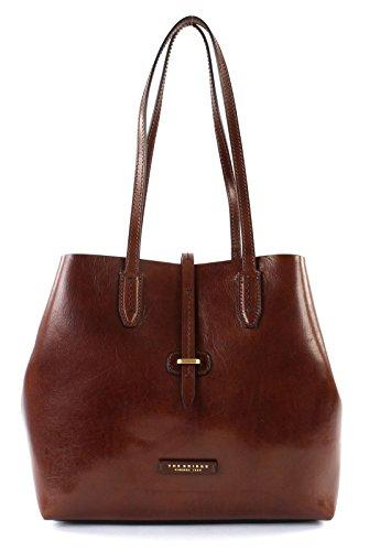 Le sac fourre-tout en cuir The Bridge Dalston Shopper 32 cm Brown